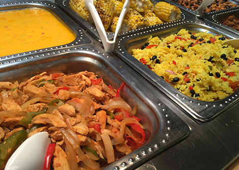 Sample of options available at dining hall